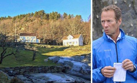 BASSENG: Ivar Tollefsen har veldig lyst på et 77 kvadratmeter stort svømmebasseng mindre enn 100 meter fra strandsonen på eiendommen Orebukta på Tåtøy.
