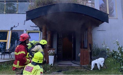 TENTE PÅ: En mindreårig beboer er mistenkt for å ha tent på begge brannene ved barneverninstitusjonen i Stjørdal onsdag kveld og natt til torsdag.