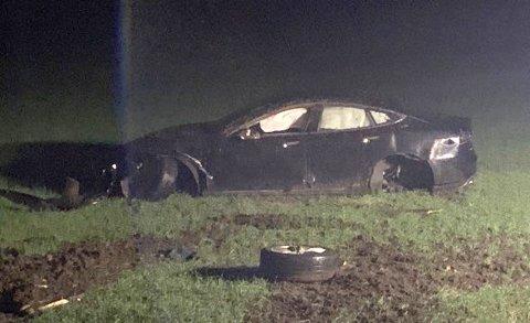 ULYKKE: Slik så det ut etter ulykken der en mistet lappen.
