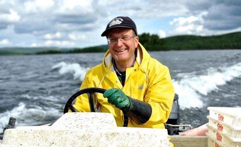 Sikfisket i Aursunden er doblet den siste uka. (Foto: Marit Manfredsdotter, Nea Radio)