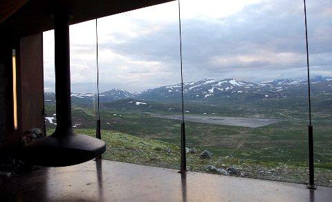TILBAKE TIL NATUREN: Her ser en den tidligere sletta fra inne på Snøhetta Viewpoint. Arkivfoto: Tonje H. Løkken