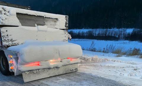 Statens vegvesen hadde kontroll på Bergerønningen torsdag. Denne sjåføren fikk kjøreforbud.