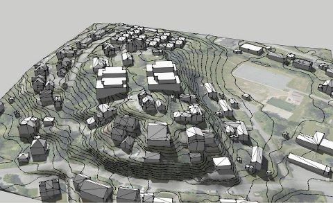 PLANER: – På Billingstad er det en betent byggesak hvor det planlegges fire blokker i Tømtebakken på toppen av en kolle og midt i et småhusområde, skriver innsenderen.