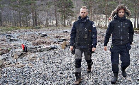 Emil Bråten (t.v.) og Morten Strøm i Skarfjell Utvikling.