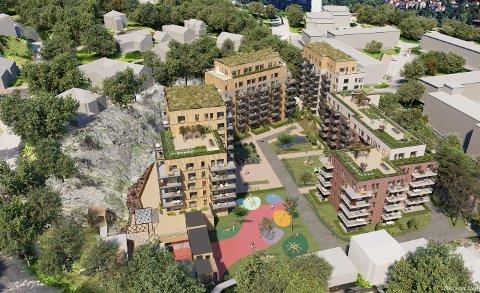 Slik ser Fredensborg for seg nye blokker på Ammerud. Illustrasjoner: Arcasa Arkitekter