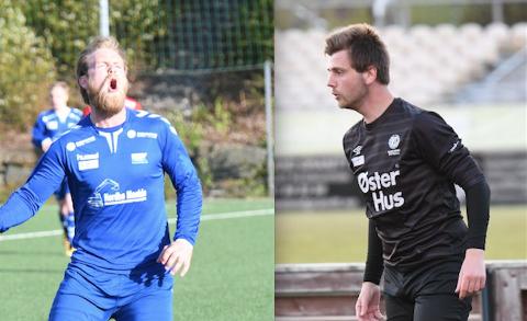 Glenn Ivan Pedersen (t.v.) og Didrik Norland er blant dem som møter hverandre til dyst når Kvitsøy gjester Randaberg stadion.