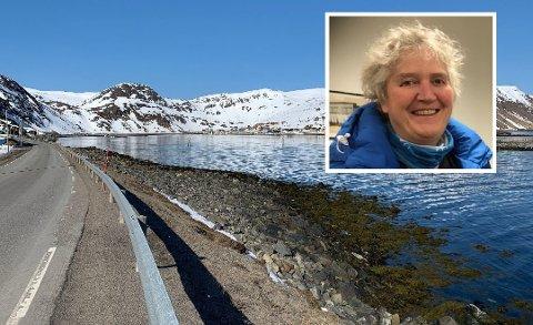 MOT NORDVÅGEN: Det er visst mye som ligger i strandsonen som ikke tilhører der. Linda Hansen er på saken. Bildet er fra tidligere i år.