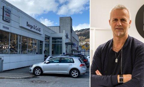 NEDGANG: Marknadssjef Tore Fossen hjå Berge & Co seier dei opplevde ein nedgang i nybilsalet i Sogndal i fjor.