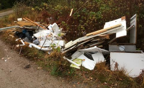 Det var søndag ettermiddag at en turgåer kom over kjøkkenet som var dumpet i naturen ved lysløypa.