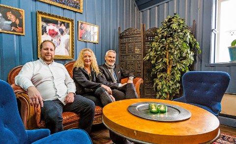 Populært: Jørgen Aanonsen (fra venstre), Torill Frydenlund og Steinar Frølandshagen gleder seg, for billetter til OBOS på Månen er sluppet og snart utsolgt!