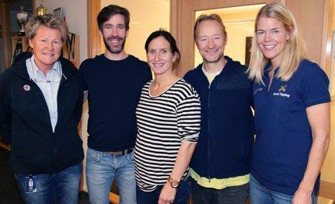 Årets ildsjeljury her ved Heidi Støre, Are Strandli, Marit Bjørgen, Kjetil André Aamodt og Bente Engelhardtsen Widding.