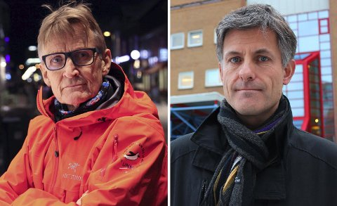 KREVER MIDTDELER: UiT-professorene Tor Ingebrigtsen og Mads Gilbert retter en skarp oppfordring til samferdselsminister Knut Arild Hareide etter søndagens dødsulykke på E8 i Lavangsdalen.