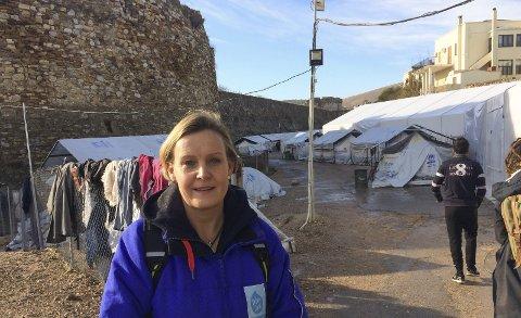 INITIATIVTAKER: Dråpen i havet: ble startet av Trude Jacobsen (44), fembarnsmor i Bærum, som opprettet en gruppe på Facebook og fortalte at hun ville reise Lesvos for å prøve å hjelpe noen av flyktningene som kom i land.