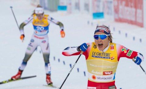 Med VM-gullet på sprinten har nå Maiken Casperse Falla elleve mesterskapsmedaljer å vise til.