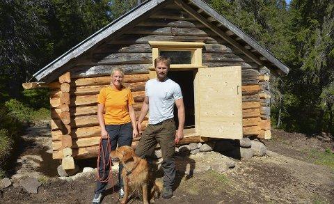 Nyoppusset: Lunner Almenning har pusset opp ei koie i Skotjernfjell naturreservat.