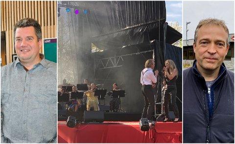 MØTES: Daglig leder i Operafest Røykenvik, Morten Wien (t.v.) møter Jevnaker-ordfører Morten Lafton onsdag.