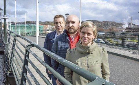 JOBBER SAMMEN: HHK-leder Erik Meusburger (i midten), Fredrikshalds Turnforenings Cindy Eriksen (th) og Terje Wahlstrøm.