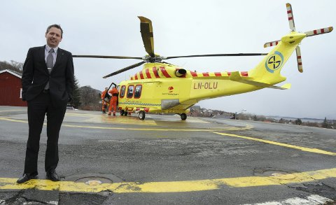 BYTTES UT: Dagens mellomstore helikopter, Agusta Westland 139 (AW 139) skal i løpet av 2018 byttes ut med det lille Airbus H145 T2 (T2), noe blant annet Bård Anders Langø er misfornøyd med. Arkivfoto: Tor Martin Leines Nordaas