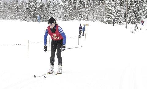Karin Kjensli, Kjærstad IL i fint driv i et tidligere Åsan Rundt. Hun satte personlig rekord i plassering under Birkebeinerrennet i helga.