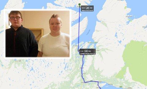 Søsknene Fredrik Johan Ingebrigtsen (18) og Nina Ingebrigtsen (16) ventet på bussen ved Smalfjord kai slik de ofte har gjort. Men søndag kom ikke bussen.