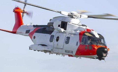 """""""NY SEA KING"""": Forsvarets splitter nye redningshelikopter AW101."""