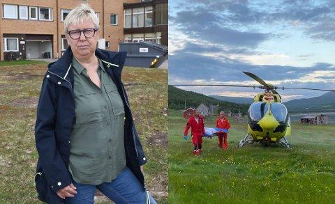 BEKYMRET: Leder for Øst-Finnmark regionråd, Wenche Pedersen, er fornøyd med å ha fått på plass en permanent løsning for ambulansehelikopter i Kirkenes, men bemerker samtidig at det er bekymring knyttet til hvordan helikopteret fungerer vinterstid.