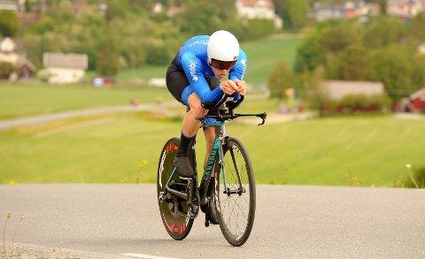 IMPONERTE: Erik Gellein Halvorsen syklet fort da han presterte karrierebeste og bare var ett sekund bak vinneren i norgescuprittet i Stjørdal. Foto: Svein Halvor Moe