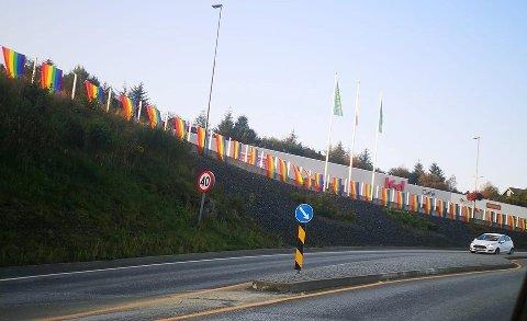 Dette synet møte innbyggerne i Bømlo sentrum mandag morgen.