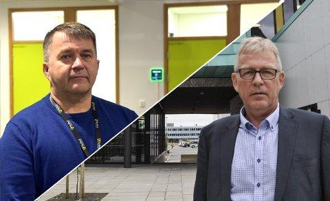 HJEMMEKONTOR: Rektorene Kim Unstad (t.v.) og Hugo Bjørnstad har de fleste lærerne på hjemmekontor.