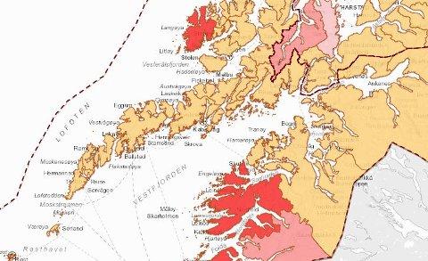 Smittedashbordet for Lofoten, med tall fra Fhi, per torsdag 25. mars 2021