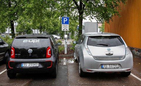 Opp: Elbilsalget øker mye i Østfold.