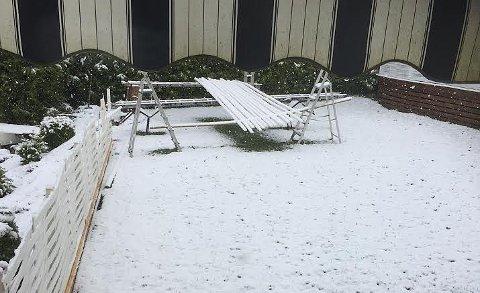 Mange har nok tenkt at snøen er borte for i år, og har allerede begynt på uteprosjektene sine.