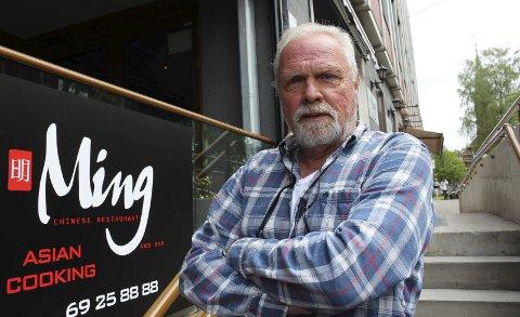 OPPRØRT: Øyvind Falck er opprørt etter å ha opplevd restaurantkontrollen på Ming sist lørdag.