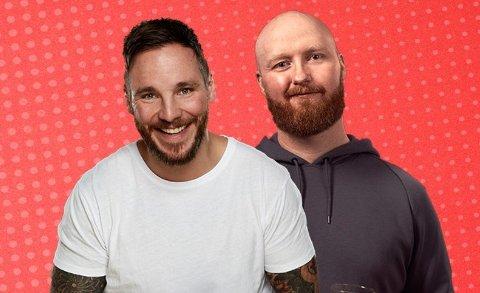 TIL NAMSOS: Komikerne Erlend Osnes og Kevin Kildal er kjent for sin ramsalte humor, og i april kommer de med showet sitt til Namsos.