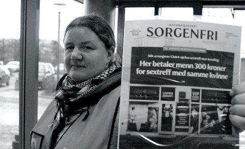 Sorgenfri-selger Anita Walstad reagerer på at de ikke har fått komme tilbake til City Syd og City Lade enda – som er gode plasser for selgerne.