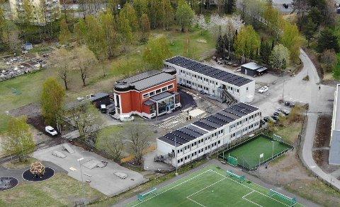Her ved Radiobølgen barnehage på Lambertseter blir det snart ledige paviljonger, som Bydel Nordstrands vaksinesenter er klare til å overta.