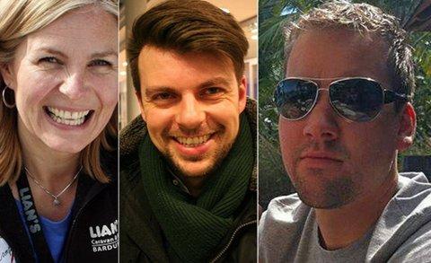 FORMUEDE: De er unge og de har mye penger: Fra venstre Hege Lian, Eric Lawrence Wiik og Vegard Brevik Harila.