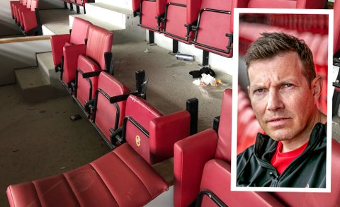 HÆRVERK: I forrige uke ble seter på TILs VIP-tribune ødelagt av ungdommer. Det er ikke første gang TILs arena er plaget med ungdomsgjenger, og nå tar daglig leder Øyvind Alapnes (innfelt) affære.