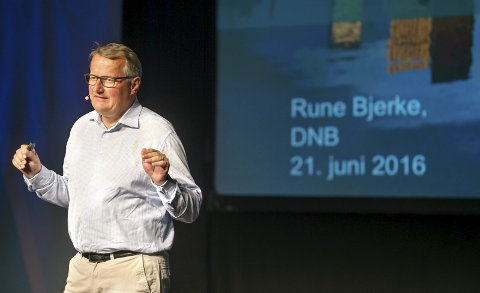 OPTIMIST: Konsernsjef i DNB Rune Bjerke mente det var all grunn til å være optimist med tanke på Norges muligheter i en enda mer teknologisk framtid. Foto: Asbjørn Risbakken