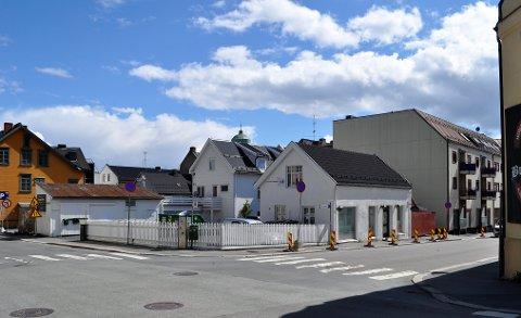 NYTT OG GAMMELT: Den gamle bygården skal bevares, men de nye eierne av Bjørnsonsgate 8 ønsker et nytt leilighetsbygg i tillegg.