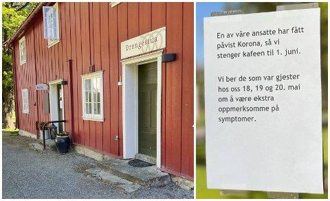 STENGT: Den kommunalt drevne kafeen Drengestua i Gjøvik stengermidlertidig etter to tilfeller av koronasmitte.