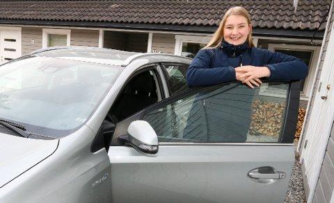 GODT FORBEREDT: Madelen Kristiansen har øvelseskjørt fra den dagen hun fylte 16.