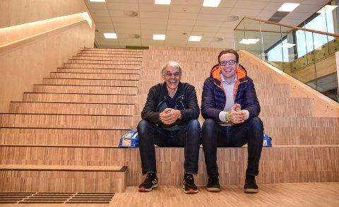 REKORDÅRET 2018: Administrerende direktør Svein Tollersrud (til venstre) og teknisk direktør Lars-Erik Knippa har all grunn til å smile bredt over 2018-tallene til Martin M. Bakken AS.