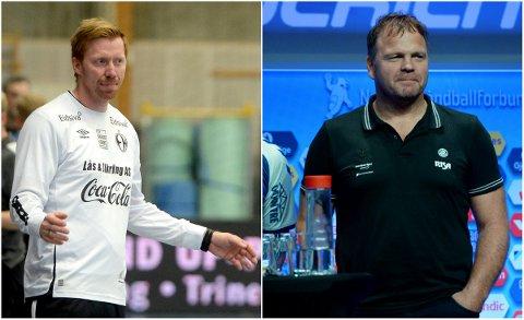 MØTES TIL DYST: Børge Lund skal lede Elverum i klubbens tredje strake cupfinale. De to foregående har endt med seier. Kan Rune Haugseng og Nærbø bli laget som setter en stopper for Elverums seiersrekke?