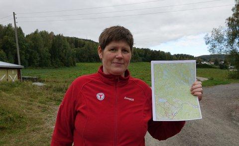 IKKE BRA: – Vi liker ikke at det planlegges skuterled gjennom friluftsområder på Flisa, sier daglig leder i DNT Finnskogen, Lene M. Steinbekken.