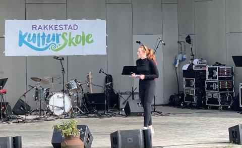 Konferansier: Margit Lyngstad går på teater og tok utfordringen som konferansier.