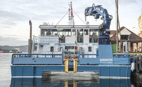VELUTSTYRT: Dette er Norges mest velutstyrte servicefartøy i sin kategori, og er bygget i Polen. Den vil få hjemmehavn i Kvarøy.Foto: Bård Arnesen