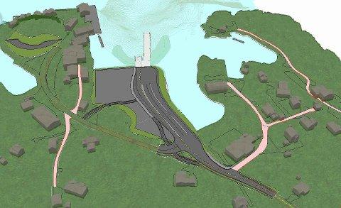 Nordland fylkeskommune har valgt å speilvende den opprinnelige planen for å få den lange tilleggskaia lenger unna Oscarbrygga.