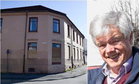 VILLE HA SVAR: Jan Solberg ville ha et svar om den gamle meieribygningen, men det var ikke kommunen rede til å gi.
