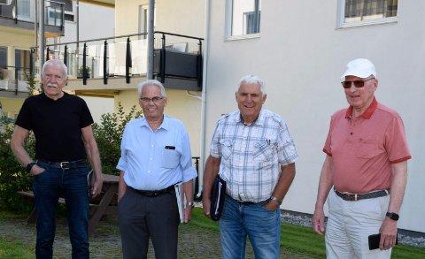 KLARE FOR RETTSSAK: Jan Egil Lyng, Sven Alexander, Tor Bråthen og Gunnar Lunne.
